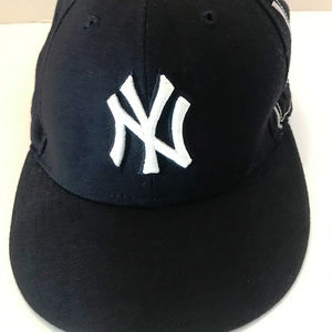 Ny Baseball Cap Black Blue White 7 1/8
